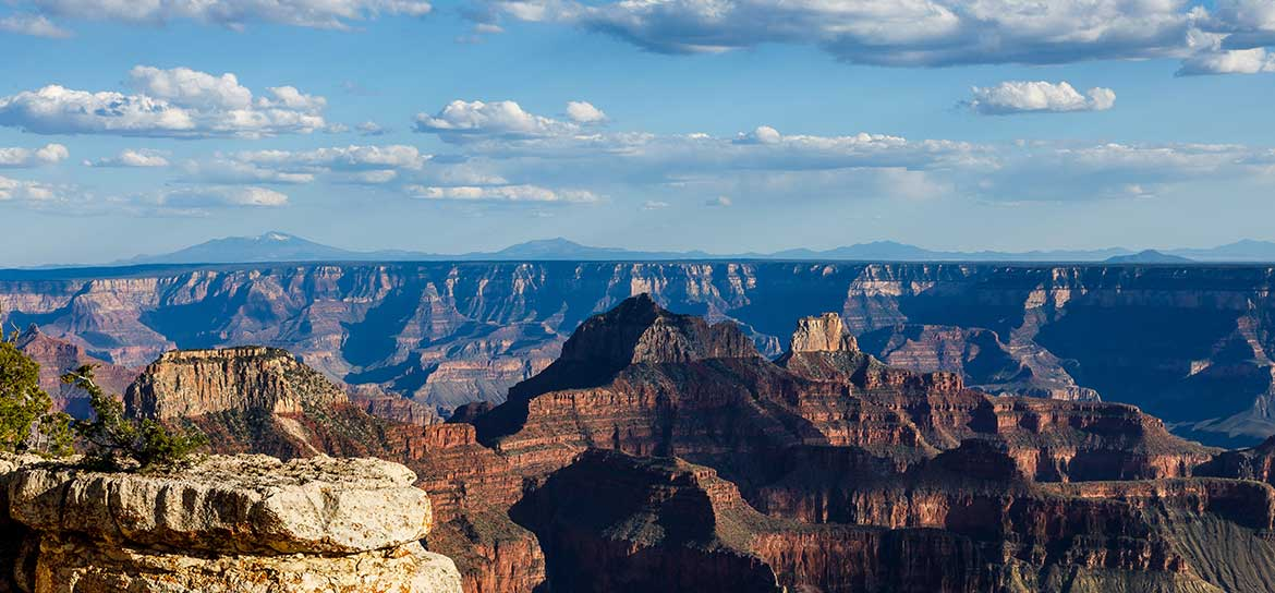 A region of the Grand Canyon National Park on a sunny day