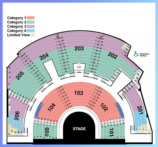 Mystere Seating Chart Category 3 Myst Re By Cirque Du